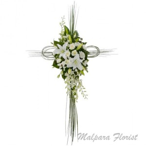 MODERN SYMPATHY CROSS Standing Spray