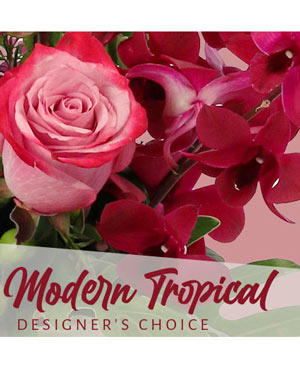 Modern Tropical Beauty Designer's Choice in Cypress, TX | BLOOMS FROM THE HEART
