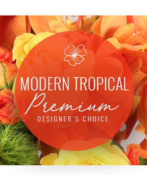Modern Tropical Bouquet Premium Designer's Choice in Coral Springs, FL | DARBY'S FLORIST