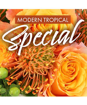 Modern Tropical Special Designer's Choice in Modesto, CA | JANET'S FLOWERS & WEDDING CHAPEL