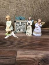 Mom and daughter angels Ceramic angels