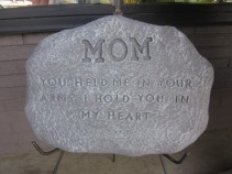 Mom Memorial Plaque on stand