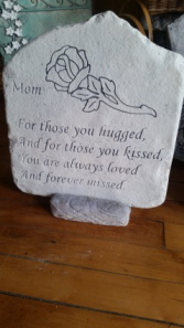 Mom Memory Stone cement plaque