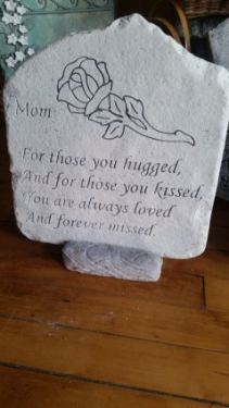 Mom Memory Stone cement plaque