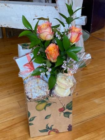 Mom You're A Peach Flower Arrangement