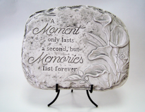 Moment Only Lasts Memorial Stone