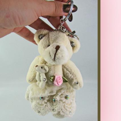 Momma Bear Key Chain Crystal Jewelry