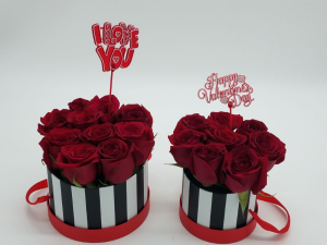 Mommy-Daugther Bucket Valentines' Arrangement in Miami, FL | FLOWERTOPIA