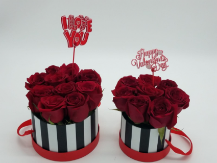 Mommy-Daugther Bucket Valentines' Arrangement