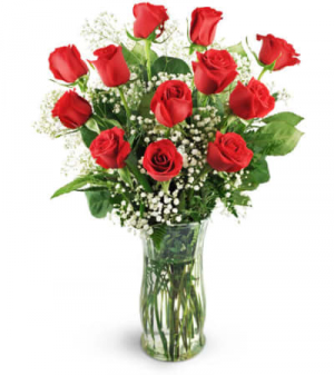 Mom's 12 Classic Red Roses Only at Mom & Pop Flower Shop in Oxnard, CA | Mom and Pop Flower Shop