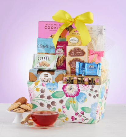 Mom's Blooming Delight Basket Gift Basket