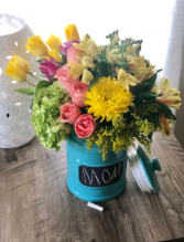 Mom's Canister  Arrangement