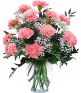 Mom's Carnation Delight Vase Only at Mom & Pop Flower Shop