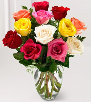 MOM'S COLORFUL BLOOMS OF ROSES  For More Info Call: (805)585-8781 in Oxnard, CA | Mom and Pop Flower Shop