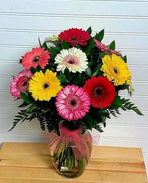 Mom's Colorful Gerbera Daisies Exclusively at Mom & Pops in Ventura, CA | Mom And Pop Flower Shop