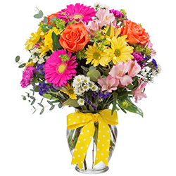 Mom's colorful mix vase arrangement in Lebanon, NH | LEBANON GARDEN OF EDEN FLORAL SHOP