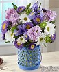 Mom's cottage garden vase in Claremont, NH | FLORAL DESIGNS BY LINDA PERRON