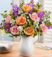 Pitcher of Roses Beautiful Keepsake arrangment