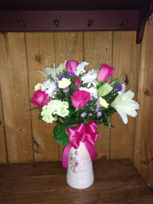 Mom's Delight Desiginer Vase Arrangement in Sutton, WV | COUNTRY CHARM FLORAL