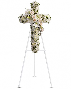MOM'S DIVINE LIGHT CROSS Exclusively at Mom & Pops in Oxnard, CA | Mom and Pop Flower Shop