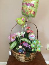 moms fairy garden basket garden