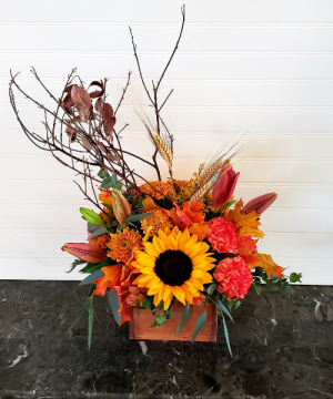 Mom's Fall Arrangement #3 EXCLUSIVELY AT MOM & POPS in Oxnard, CA | Mom and Pop Flower Shop