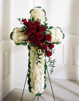 Mom's Floral Cross Exclusively at Mom & Pops in Ventura, CA | Mom And Pop Flower Shop