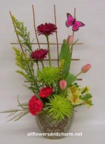 Spring Garden  One sided with Keepsake vase