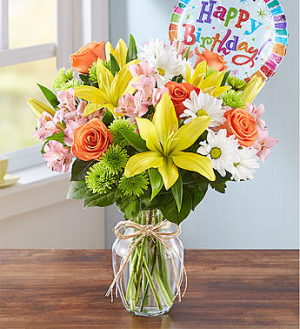 Mom's Happy Birthday Only at Mom & Pop Flower Shop in Ventura, CA | Mom And Pop Flower Shop