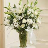 Mom's Large White Sympathy Vase Arrangement
