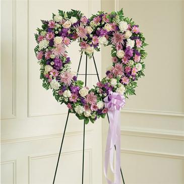 Mom's Lavender & White Open Heart For More Information Call: (805)653-6929