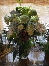 Moms minty greens Vase arrangement