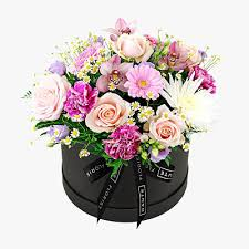 MOM'S PASTEL GARDEN CUSTOM BLACK HAT BOX