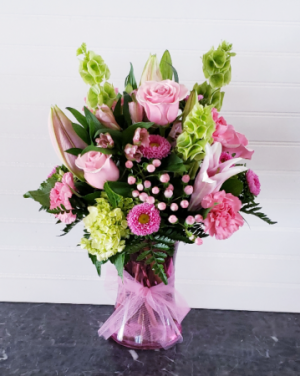 MOM'S PINK SPLASH Exclusively at Mom & Pops in Oxnard, CA | Mom and Pop Flower Shop