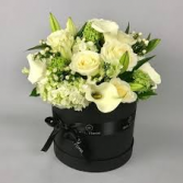 MOM'S PURITY ARRANGEMENT  CUSTOM HAT BOX