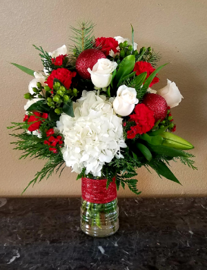 MOM'S RED SPARKLE Only at Mom & Pops Flower Shop
