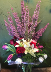 Mom,s special roses/tulips/heather