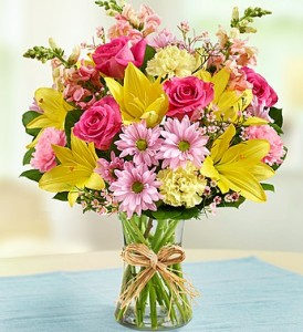 Mom's Spring Celebration bestselling field-gathered bouquet in Oxnard, CA | Mom and Pop Flower Shop