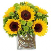 MOM'S SUNSHINE SQUARE VASE