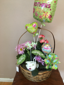 moms tea garden basket garden