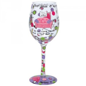 Mom's Time Out* Lolita Wine Glass