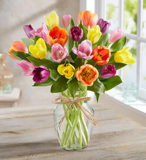 Mom's Tulips Array Exclusively at Mom & Pops in Oxnard, CA | Mom and Pop Flower Shop