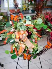 Monarch Silk Wreath