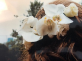 monika hair flower bridal flowers