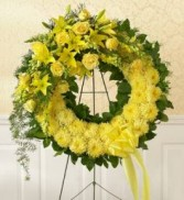 Monochromatic Sympathy Wreath This Stunning Wreath is a Perfect Symbol of Love