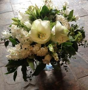 Monochromatic Winter Garden Vase Arrangement