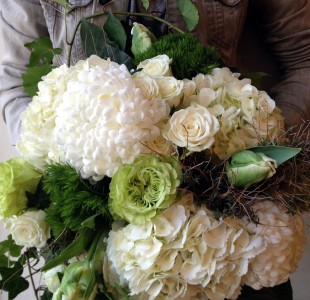 Monochromatic Woodland Handtied Bouquet