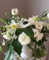Monochrome Compote Arrangement