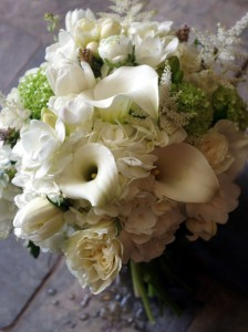 Luxe Monochrome  Handtied Bouquet in Toronto, ON | BOTANY FLORAL STUDIO