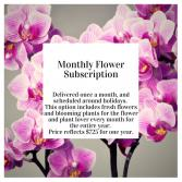 Monthly Floral subscription- Most Popular!